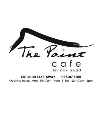 The Point Cafe sign